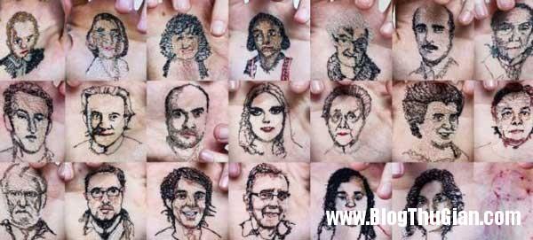 chandung 3 Thêu ảnh chân dung vào lòng bàn tay để thể hiện tình yêu.