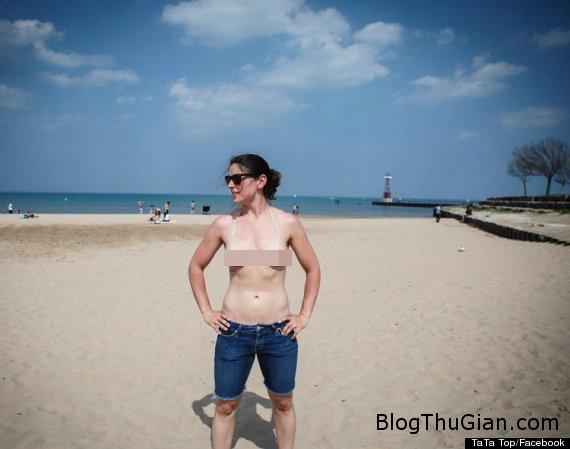 phai dep my phat sot voi bikini kieu tha rong Phụ nữ Mỹ đang phát sốt với mẫu áo ngực trần