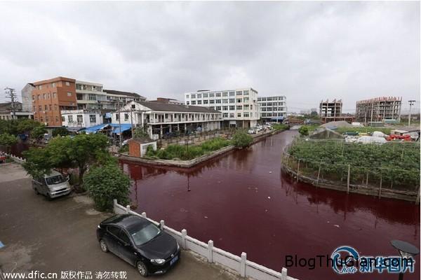 140725 3song e4fba Phát hoảng khi nước con sống đột nhiên chuyển sang màu đỏ như máu