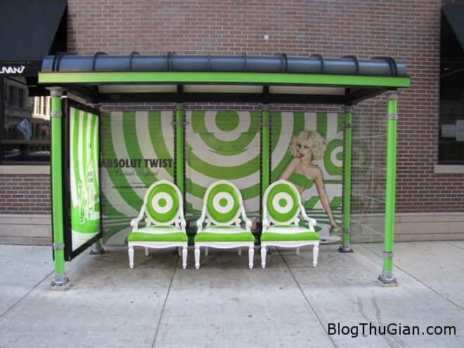 absolut twist bus shelter Cuỗn sạch 24 nhà chờ xe bus chỉ sau một đêm
