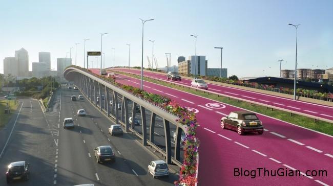 mau hong 1 Xây dựng làn đường màu hồng dành riêng cho phụ nữ