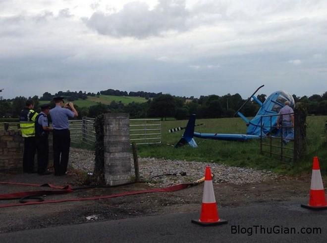 truc thang roi Máy bay rơi vỡ vụng khi đang trên đường đến đám cưới