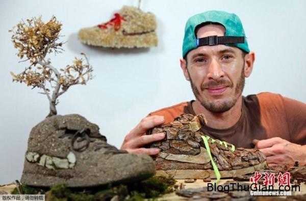 chiec giay doc nhat vo nhi lam tu vo cay Nghệ sỹ chuyên chế tác giày từ nhiên liệu tự nhiên