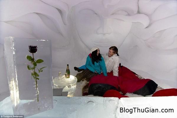 doc dao khach san hoan toan bang tuyet tren nui2 Độc đáo khách được xây hoàn toàn bằng tuyết