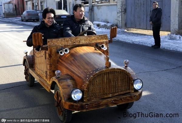 xem chiec xe dien hoan toan bang go doc dao1 Xe điện được chế tác 100% từ gỗ