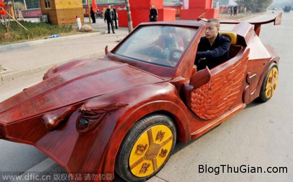 car1 1887 1423627207 Anh nông dân tự chế xe thể thao bằng gỗ tặng vợ