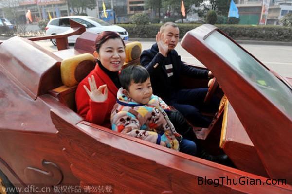 car2 4803 1423627207 Anh nông dân tự chế xe thể thao bằng gỗ tặng vợ