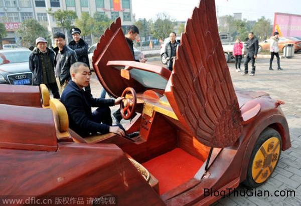 car3 9978 1423627207 Anh nông dân tự chế xe thể thao bằng gỗ tặng vợ