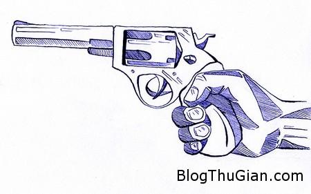 bi bat vi di cuop ngan hang bang sung giay Dùng súng vẽ trên giấy đi cướp ngân hàng