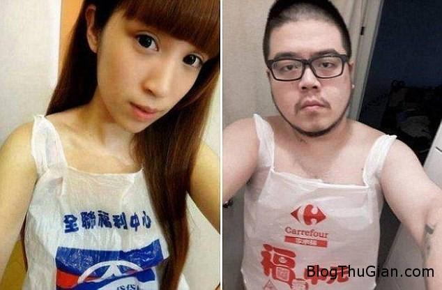 gioi tre dai loan voi trao luu mac tui nilon Giới trẻ Đài Loan chuộng mốt mặc túi nilon